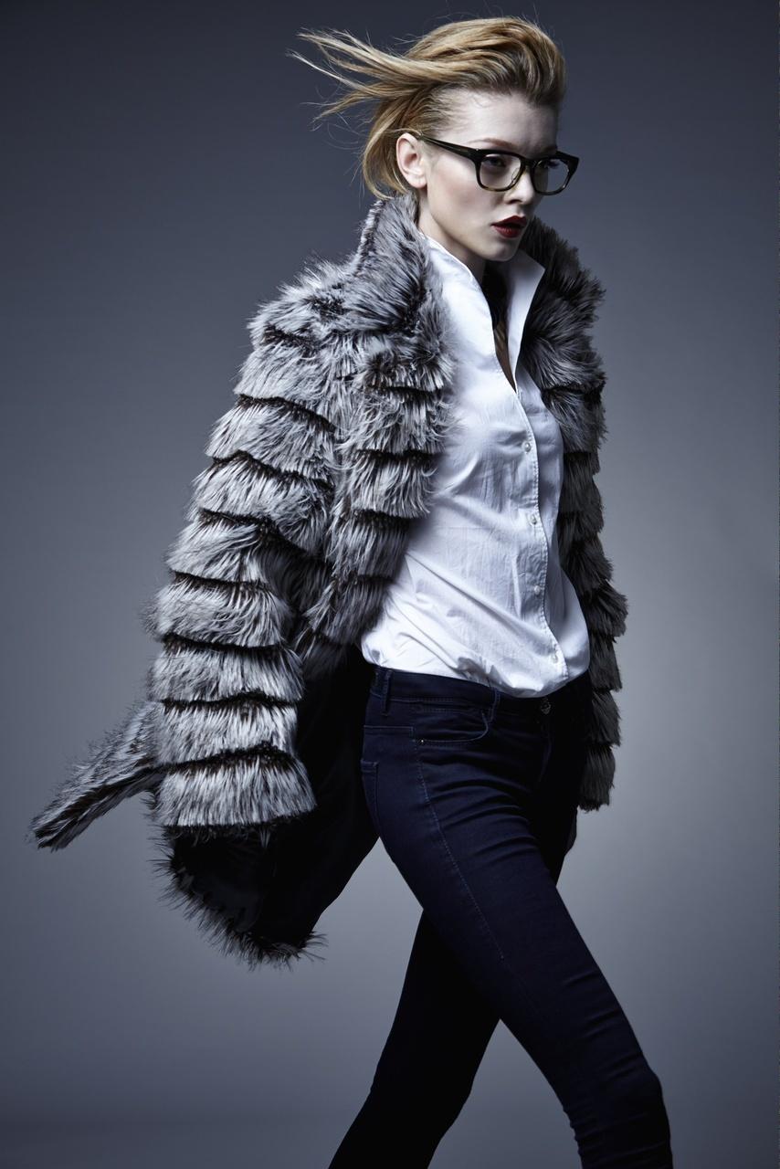charly caulder vegan faux fur coat