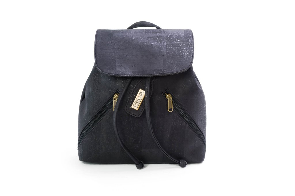 friluk vegan black backpack