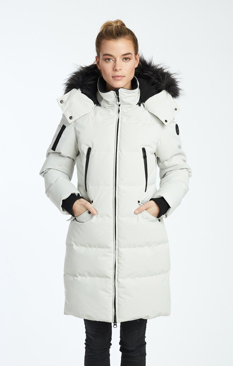 noize vegan coat white