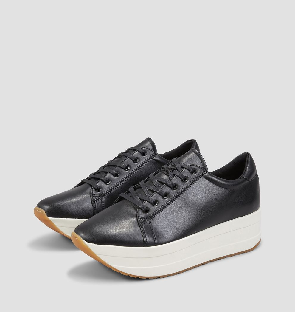 black vegan trainers vagabond