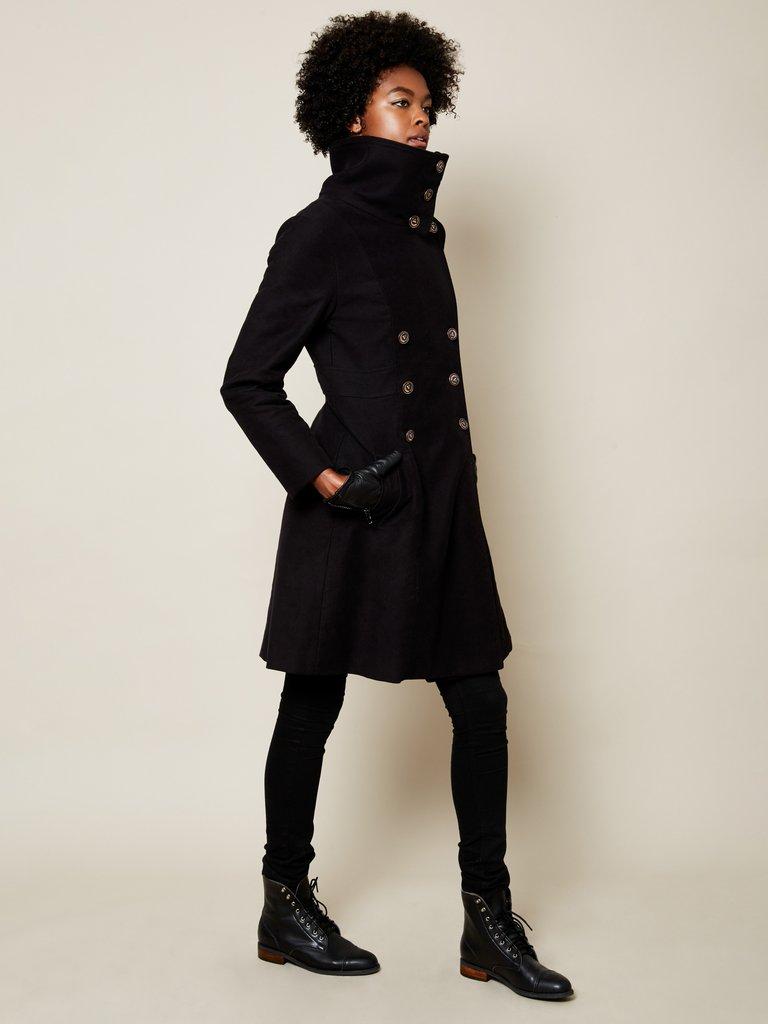 vaute couture vegan coat black