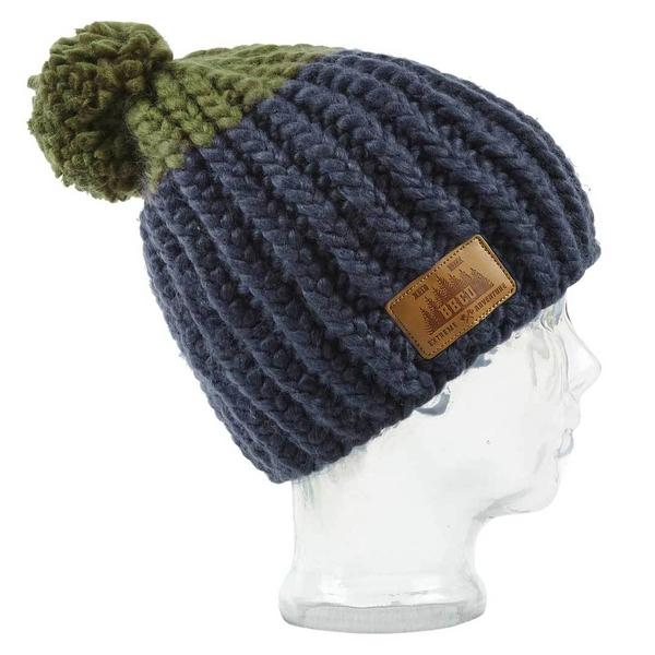 bbco vegan blue beanie bobble hat