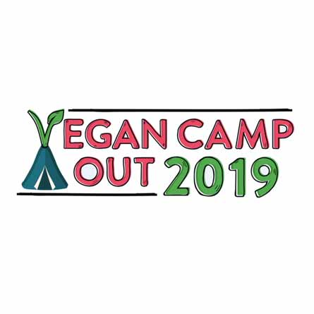 vegan camp out 2019 logo