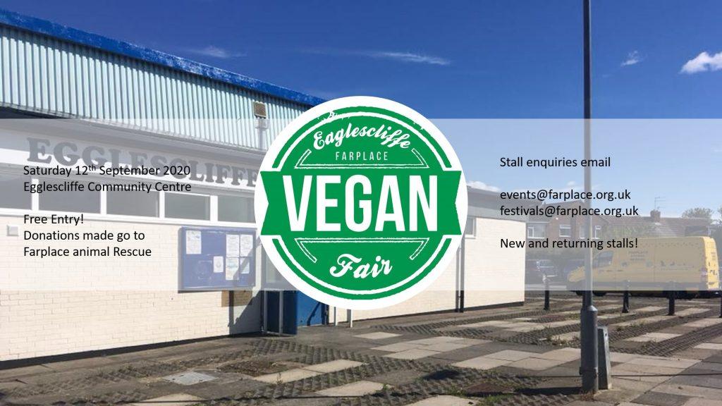 eaglescliffe vegan fair stockton on tees vegan event september 2020