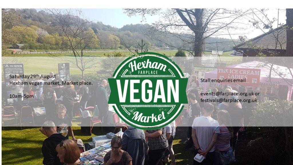 hexham vegan market northumberland vegan event august 2020
